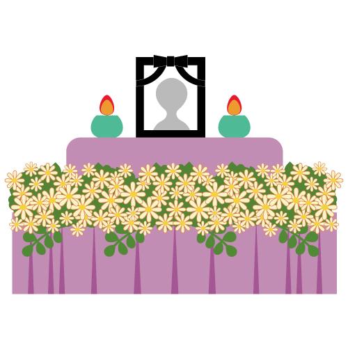 女性に人気の花祭壇。気になる費用は?