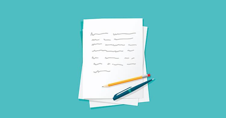 用紙を購入して会葬礼状を自作する場合に記載する事柄